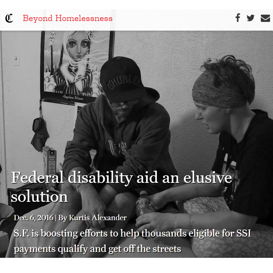 SF Chronicle Beyond Homelessness