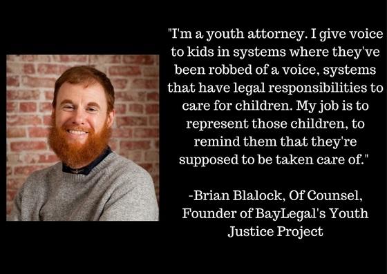 Brian Blalock quote - Bay Area Legal Aid