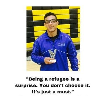 """Being a refugee is a surprise. You don't choose it. It's just a must."" Noor Kathem, former client"