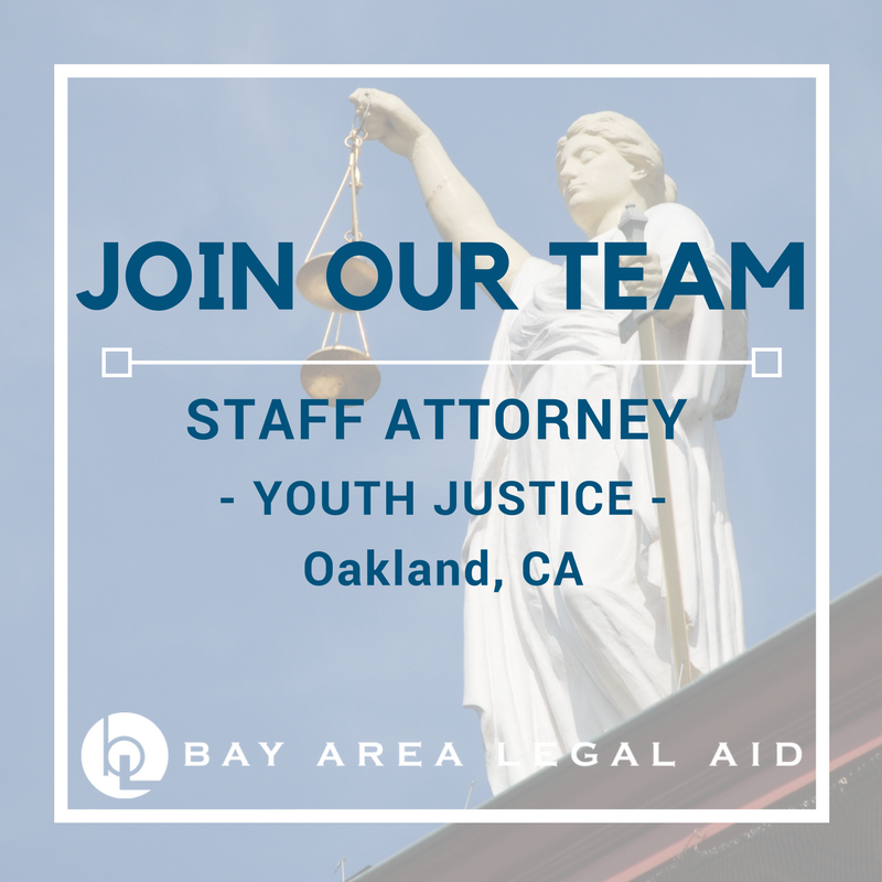 We're hiring a Youth Justice Attorney