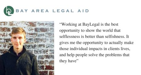"James Cheney says, ""Working at BayLegal is the best opportunity to show the world that selflessness is better than selfishness. It gives me the opportunity to actually make those individual impacts in clients lives, and help people solve the problems they have."""