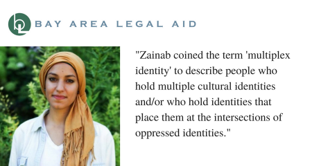Zainab Ramahi coined the term 'mulitplex identity' to describe people who hold multiple cultural identities and/or who hold identities that place them at the intersections of oppressed identities.