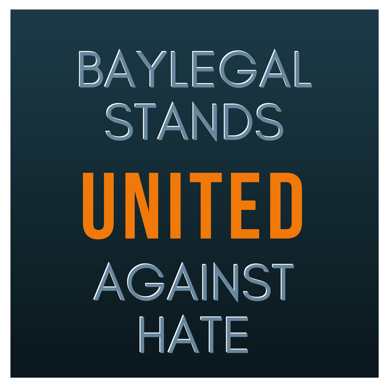 BayLegal Stands United Against Hate
