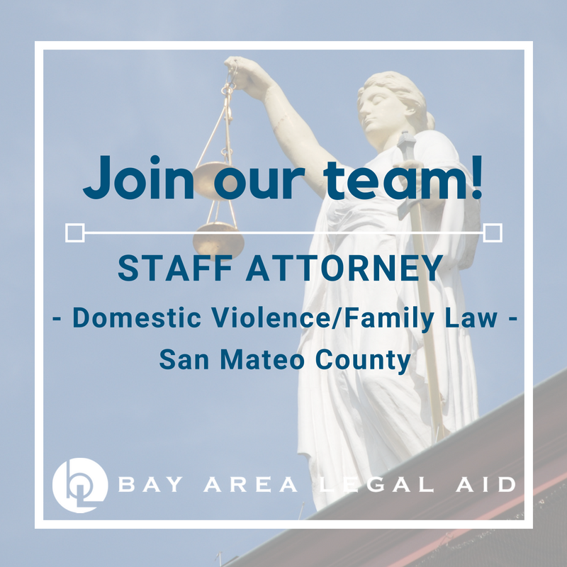 Staff Attorney Family Law San Mateo