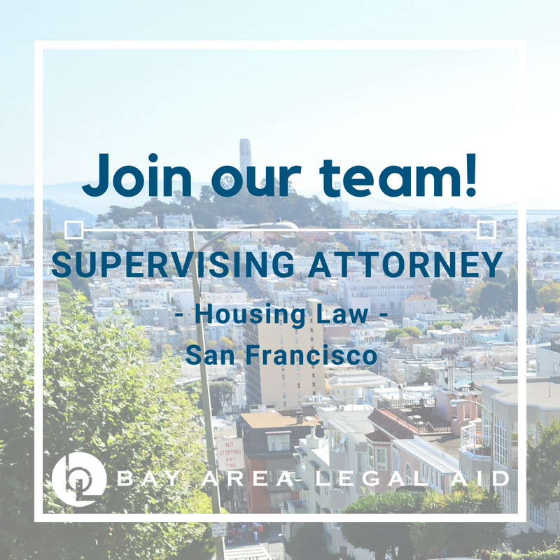 Supervising Attorney Housing Law San Francisco