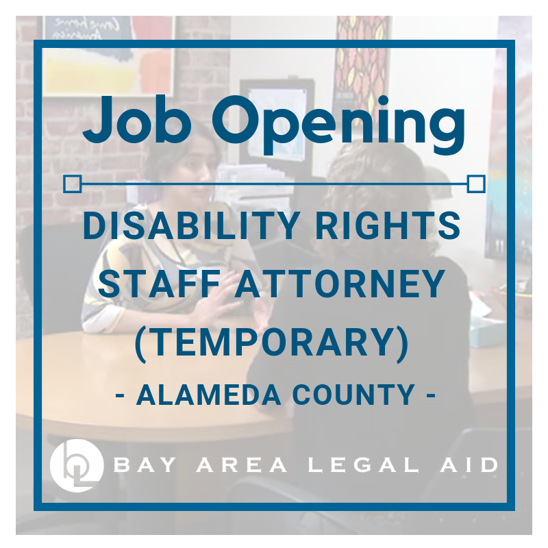 Social Justice Attorney - Disability Rights (Temporary: 6