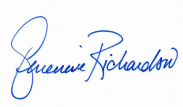 Genevieve Richardson signature