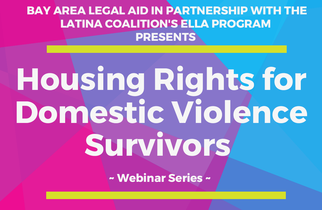 Flyer for Housing Rights for Domestic Violence Survivors Webinar