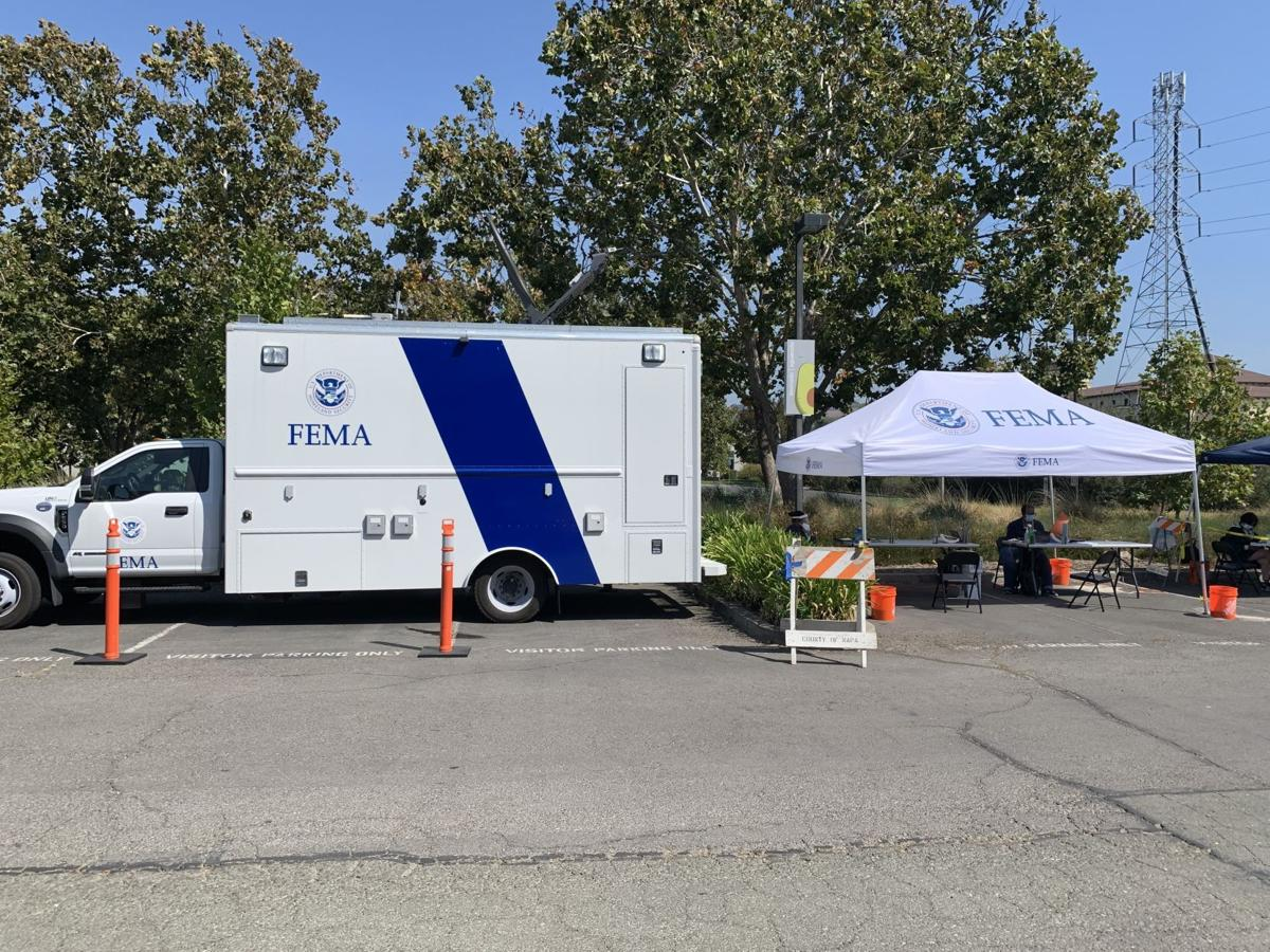 FEMA truck and table at the NAPA LAC
