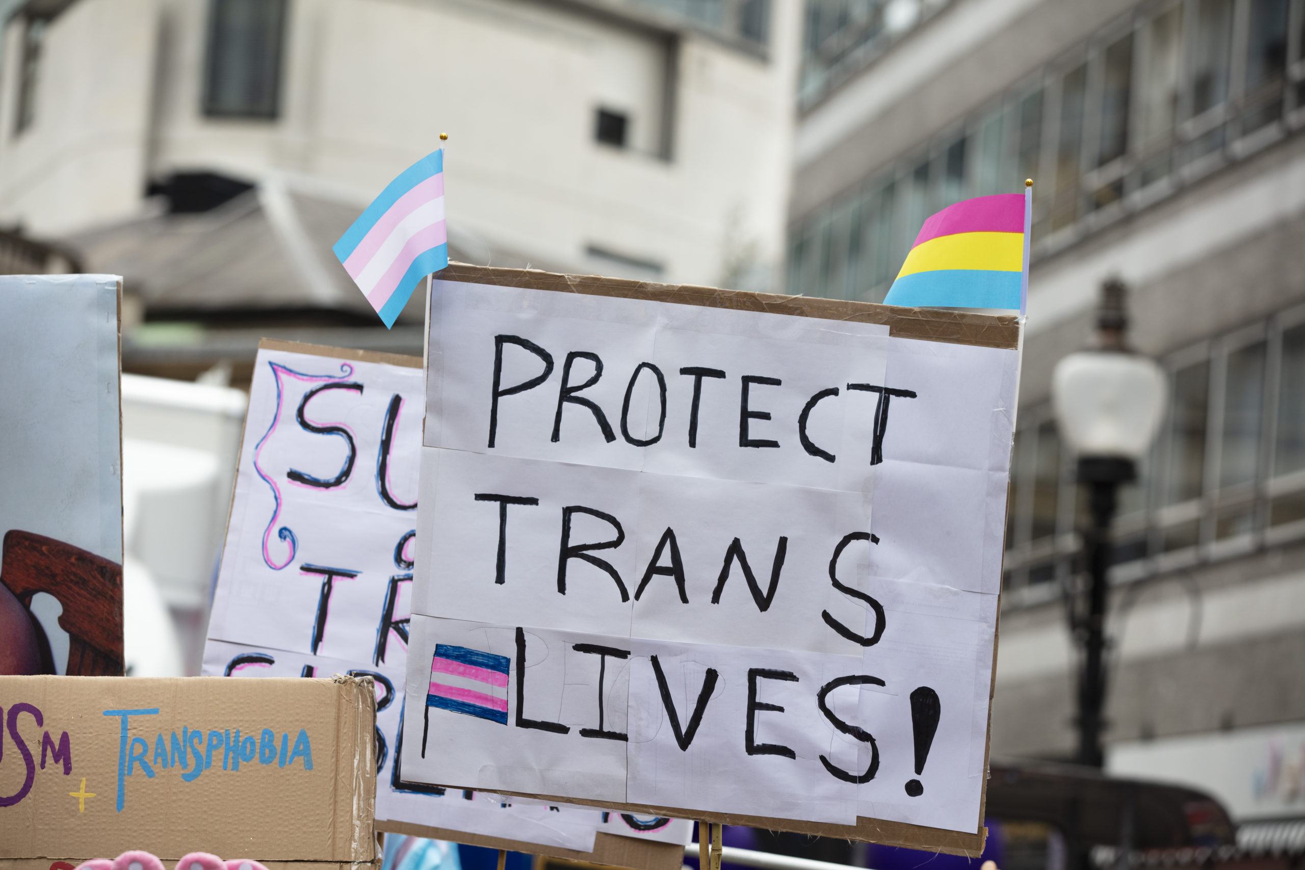 Protect Trans Live march sign